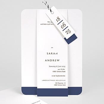 Elegante Hochzeitskarten  - Blue Color Touch - 0