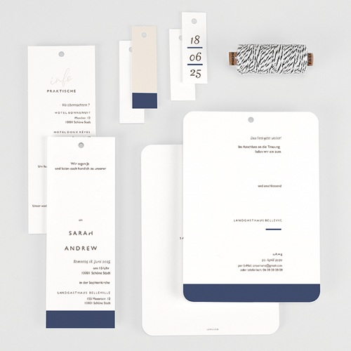 Elegante Hochzeitskarten  - Blue Color Touch 62065 thumb
