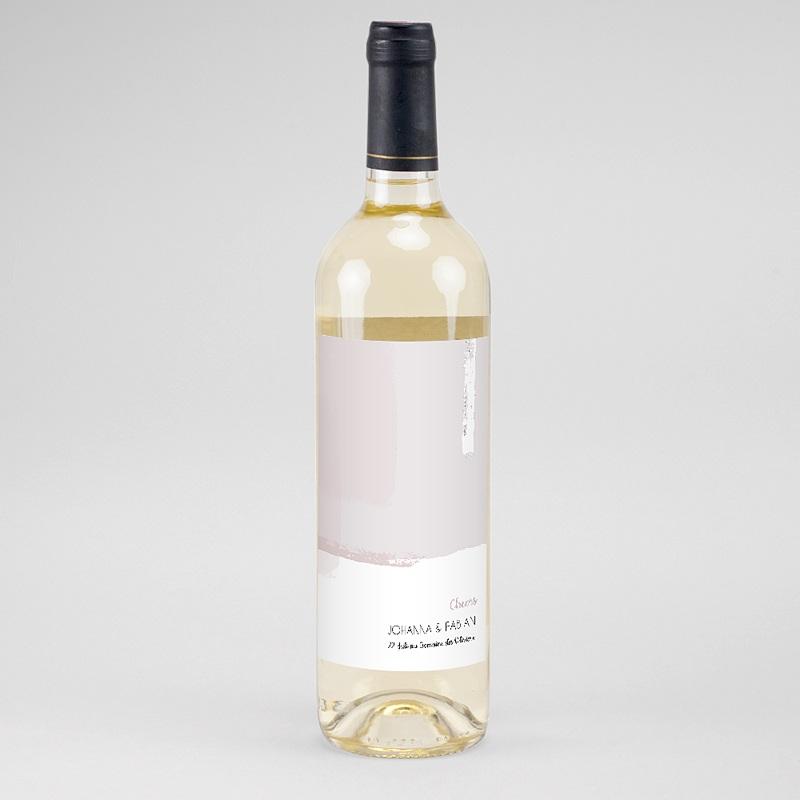 Flaschenetiketten Hochzeit Rose Quarz