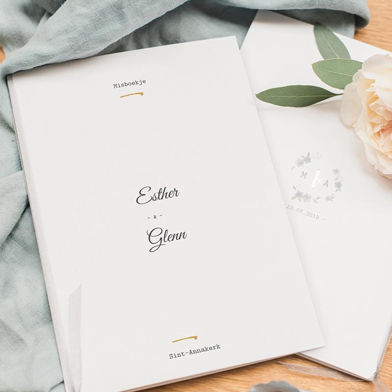 Kirchenheft Hochzeit Botanisches Blau pas cher