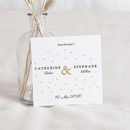 Save the date Hochzeit Goldzauber
