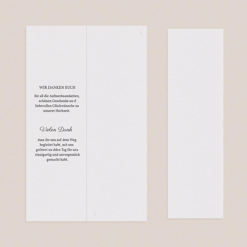 Elegante Dankeskarten Hochzeit Nature Inspired pas cher