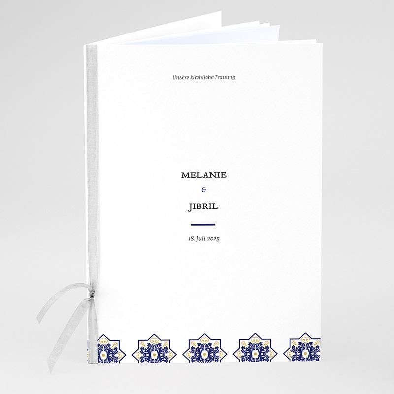 Kirchenheft Hochzeit Ottomane Blau