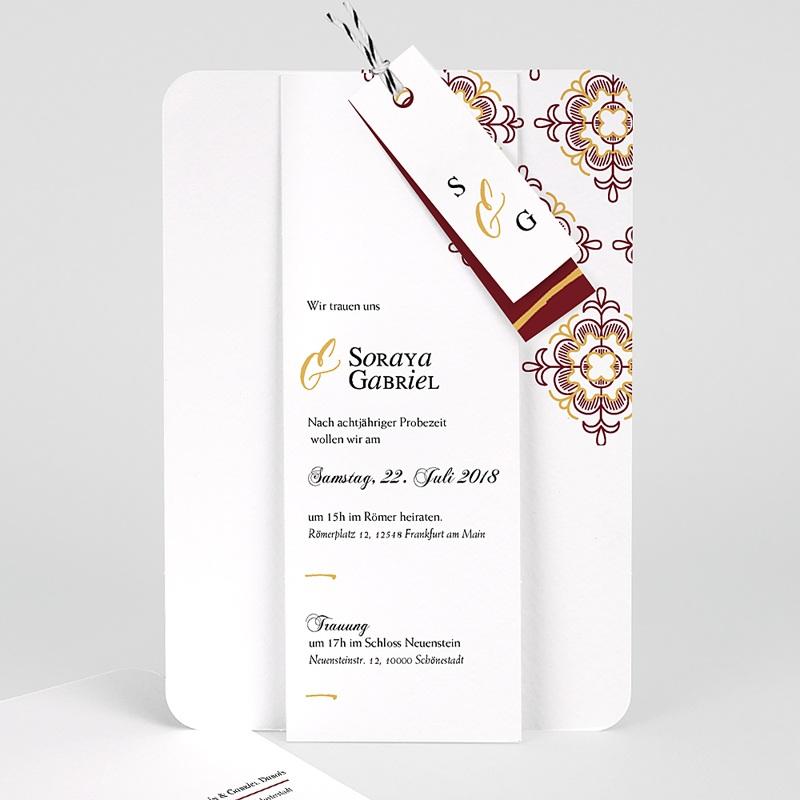 Orientalische Hochzeitskarten  - Ottoman Rot 62170 thumb