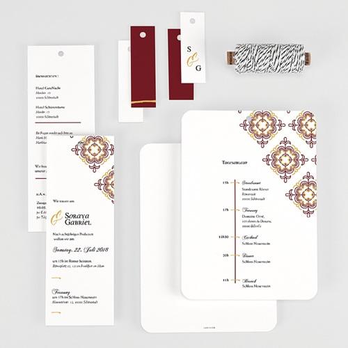 Orientalische Hochzeitskarten  - Ottoman Rot 62172 thumb