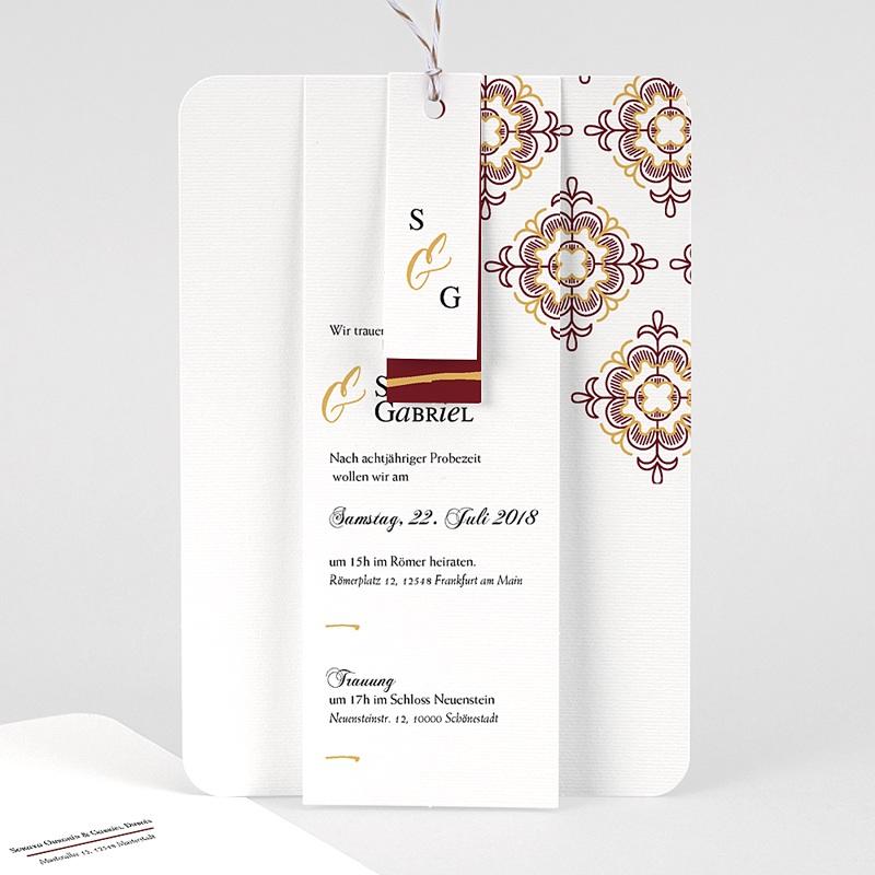 Orientalische Hochzeitskarten  - Ottoman Rot 62173 thumb