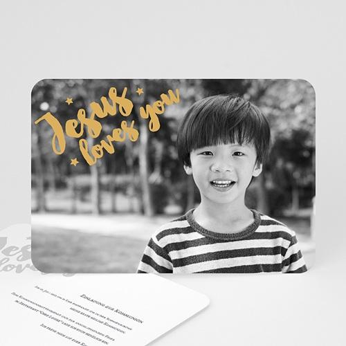 Einladungskarten Kommunion Jungen - Love Gold 62205 thumb