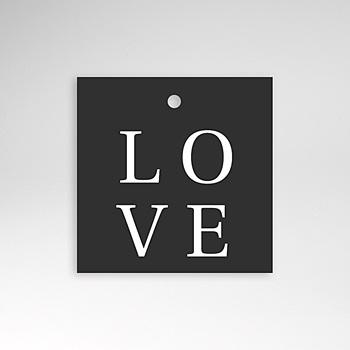 Anhänger Hochzeit - Typografisch und Form - 0