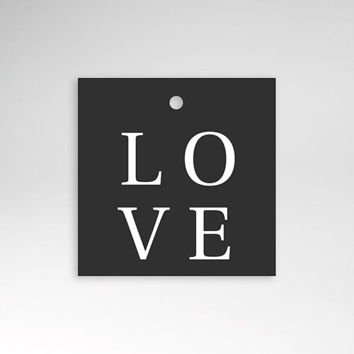 Geschenkanhänger Hochzeit Typografisch und Form