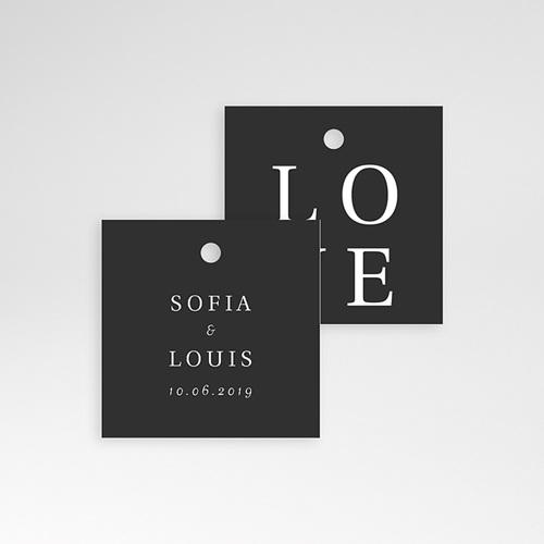 Geschenkanhänger Hochzeit Typografisch und Form pas cher