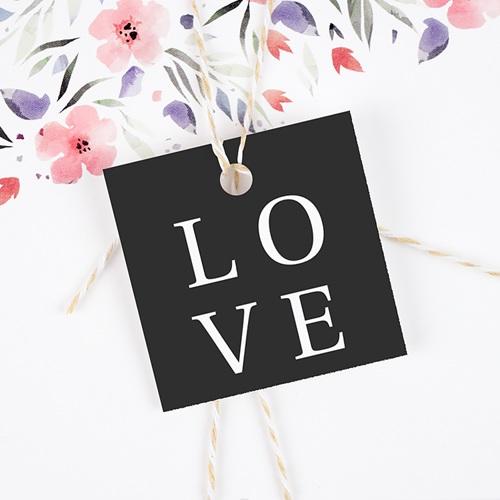 Geschenkanhänger Hochzeit Typografisch und Form gratuit