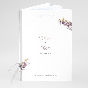 Kirchenheft zur Hochzeit individuell gestalten - Vintage Chic Rose - 0