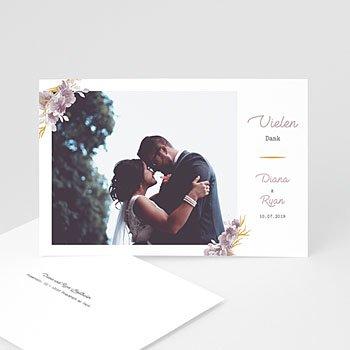 Dankeskarten Hochzeit mit Foto - Vintage Chic Rose - 0