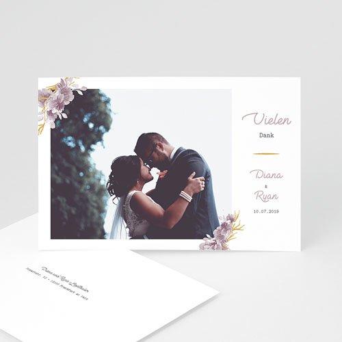 Dankeskarten Hochzeit mit Foto - Vintage Chic Rose 62254 thumb