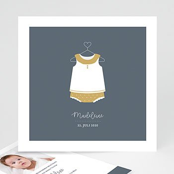 Geburtskarten für Mädchen - Retrolook - 0