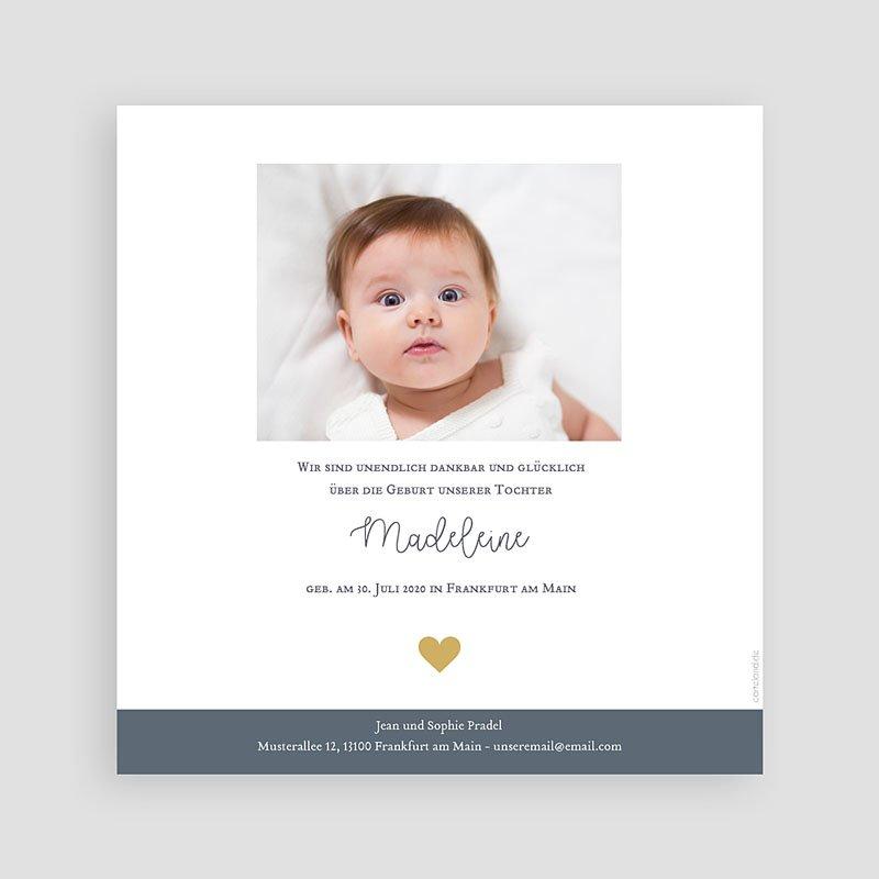 Geburtskarten für Mädchen Retrolook pas cher