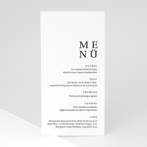 Menükarten Hochzeit Typografisch und Form