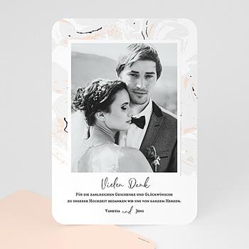 Dankeskarten Hochzeit mit Foto - Mamor & Pastell - 0