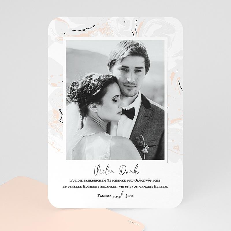 Dankeskarten Hochzeit mit Foto Mamor & Pastell