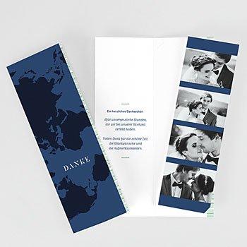 Dankeskarte Hochzeit Reisen - Boarding Pass - 4