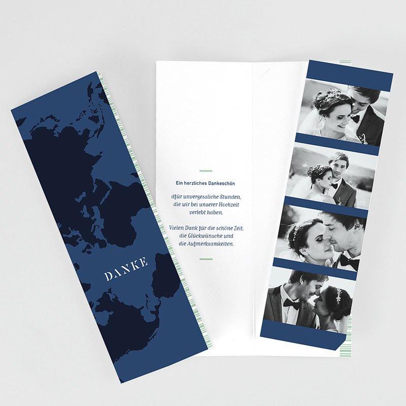 Dankeskarte Hochzeit Reisen - Boarding Pass 62483 thumb