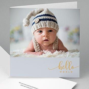 Geburtskarten für Jungen - Hello World - 0