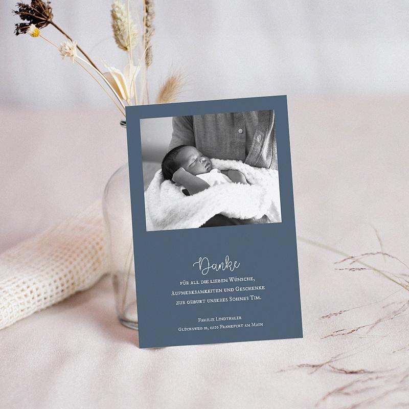 Dankeskarten Geburt Jungen - Mond Mobilie 62653 thumb