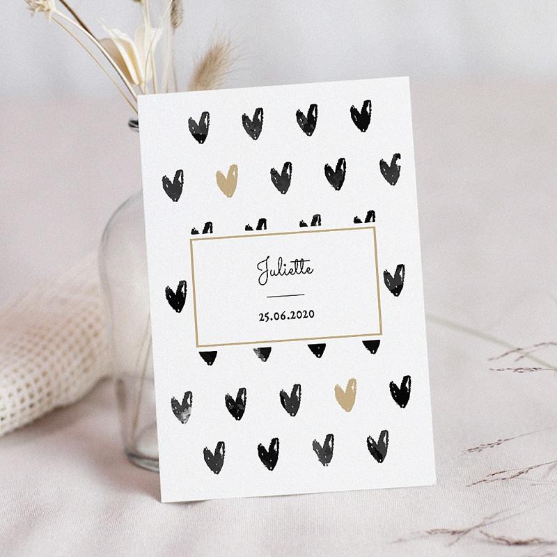 Geburtskarten für Mädchen Kleine Herzen