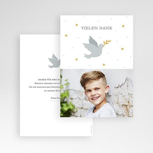 Dankeskarten Kommunion Jungen - Holly Spirit Grau 62699 thumb
