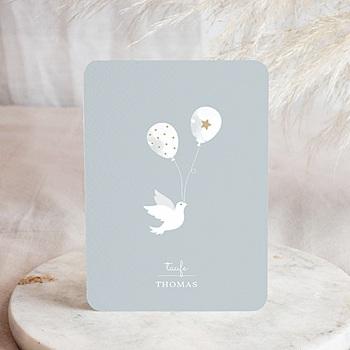 Einladungskarten Taufe Jungen  Peaceful