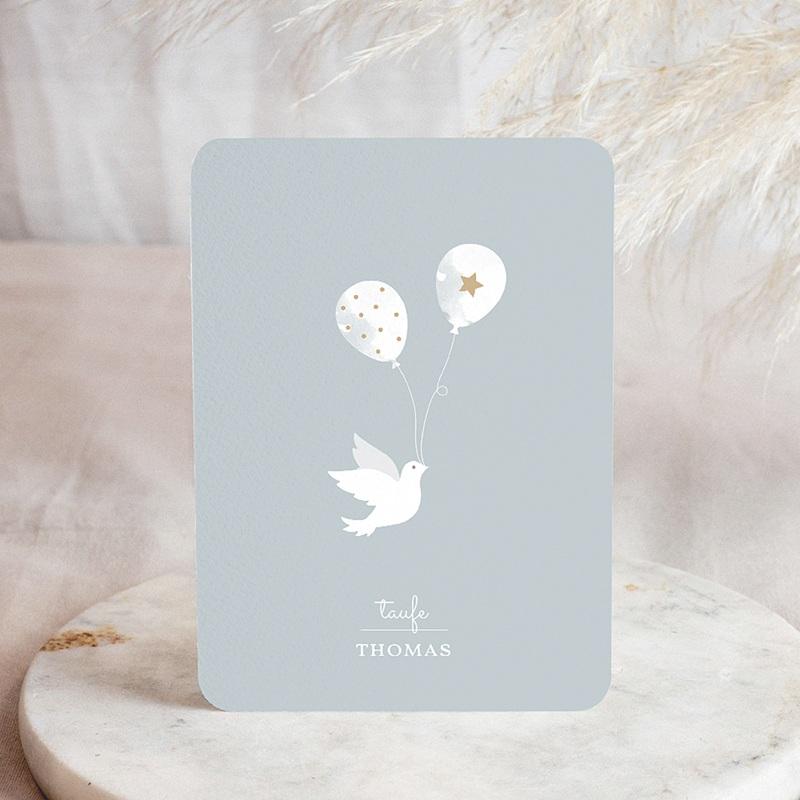 Einladungskarten Taufe für Jungen Peaceful