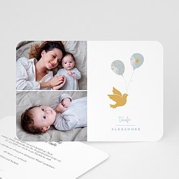 Einladungskarten Taufe Jungen  Peace Loving