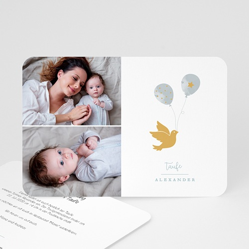 Einladungskarten Taufe für Jungen Peace Loving