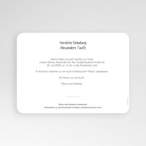 Einladungskarten Taufe für Jungen Peace Loving pas cher