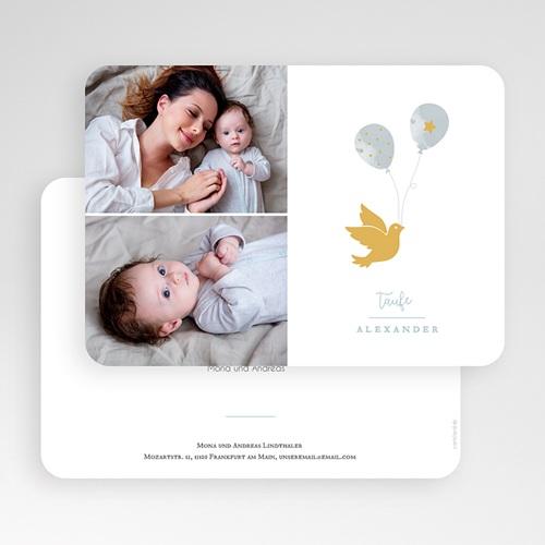 Einladungskarten Taufe für Jungen Peace Loving gratuit