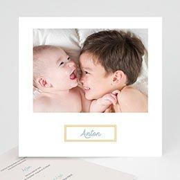 Foto-Babykarten gestalten Goldiger Touch