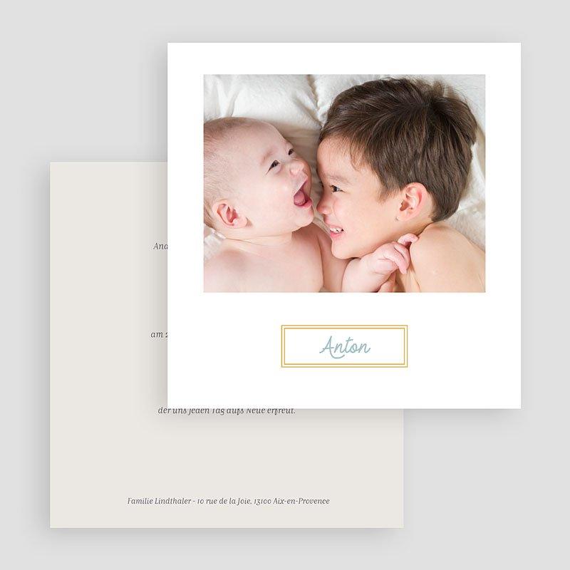 Geburtskarten mit Fotos Goldiger Touch gratuit