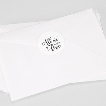 Aufkleber Kommunion - All you need is Love - 0