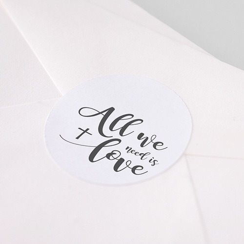 Aufkleber Kommunion - All you need is Love 62777 test