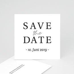 Save the date Hochzeit Typografisch und Form