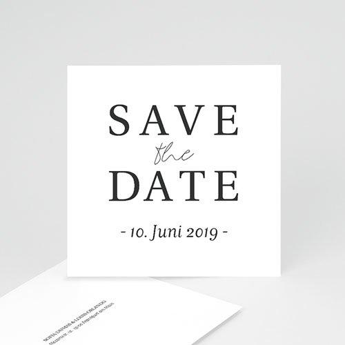 Save The Date Karten Hochzeit Typografisch und Form