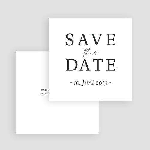 Save The Date Karten Hochzeit Typografisch und Form gratuit