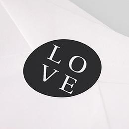 Aufkleber Hochzeit Typografisch und Form