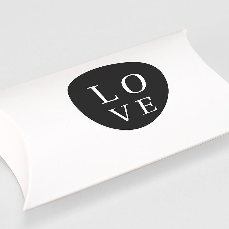Aufkleber Hochzeit Typografisch und Form gratuit