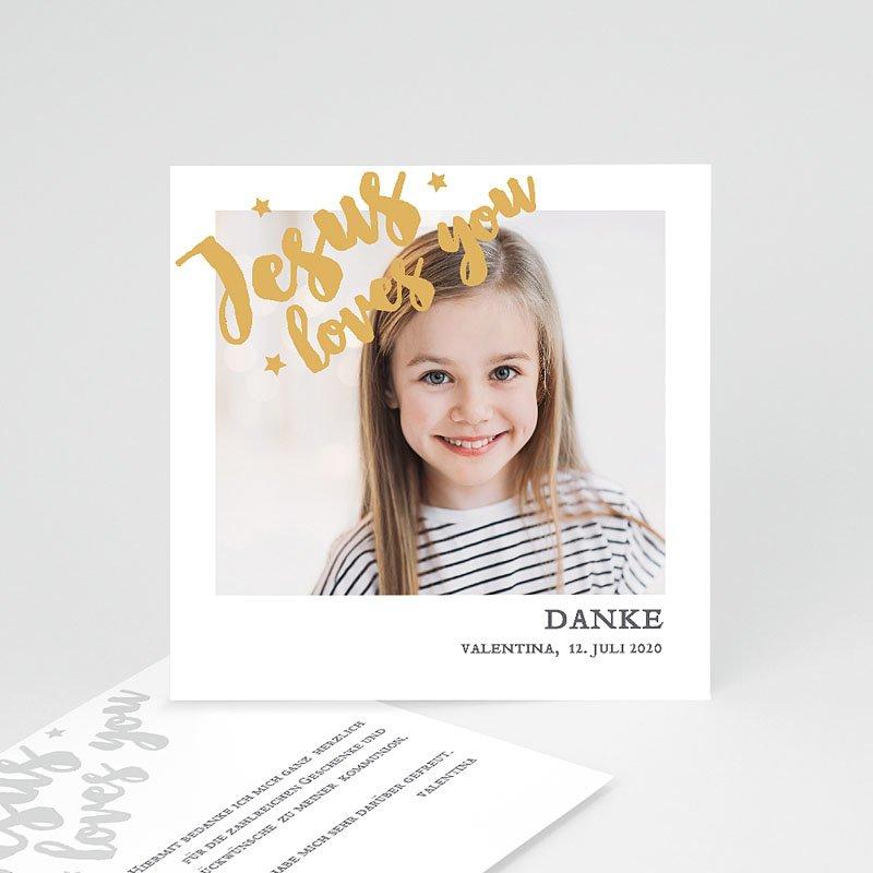 Dankeskarten Kommunion Mädchen Holy Love