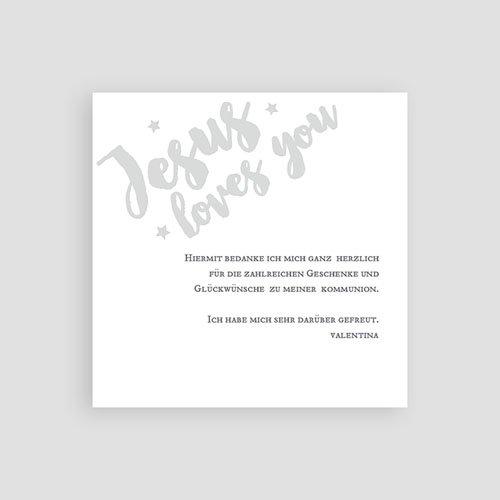 Dankeskarten Kommunion Mädchen Holy Love pas cher