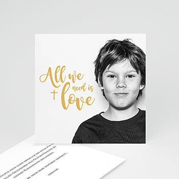 Dankeskarten Kommunion Jungen - Love - 0