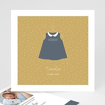 Geburtskarten für Mädchen - Kleid Vintage - 0