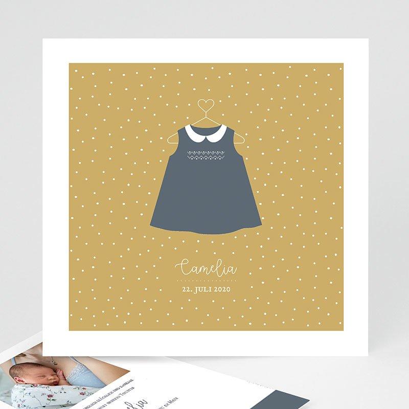 Geburtskarten für Mädchen Kleid Vintage