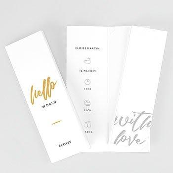 Geburtskarten für Mädchen - Merely Love - 0